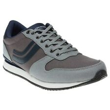 New Mens Jack Jones Grey West Side Canvas Trainers Running Style Lace Up