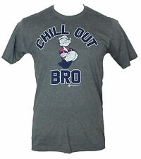 """Popeye the Sailor Man Mens T-Shirt – """"Chill Out Bro"""" Arms Crossed Image"""