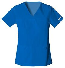 Cherokee Scrubs Flexibles V Neck Scrub Top 2968 Royal Blue