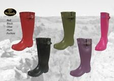 Wetlands Rubber Wellington Boots RED BLACK OLIVE PLUM FUCHSIA Ladies