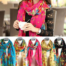 Elegant Fashionable Beautiful Women Ladies Floral Flower Scarf Shawl Stole Wrap