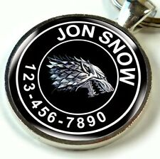 Pet Tag Metal Tag for Dog and Cat Handmade Games of Thrones Stark