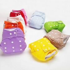 Baby Waterproof Reusable Cloth Diaper Nappy Insert Colors Size Adjustable