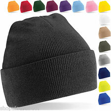 Warm Beanie Hat Wooly Winter Warm Skiing Turn Up or Slouch Ladies Mens Unisex