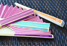 Personalized Colorful ASST Color Hand Paper Fan wedding party favor Asian Party