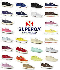 Superga Unisex 2750 Cotu Classic Canvas Trainers Tennis Shoes Rubber Sole New