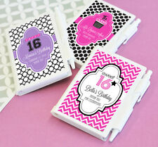 Sweet 16 Sixteen Quinceanera Personalized Notebook Pen Set Birthday Party  Favor