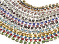 EIMASS® Wholesale Rhinestone Cup Chain, Diamante Chains, Glass Crystals Trimming