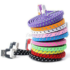 Colorful Durable Rope 3FT USB Data Sync Charger Cable For Apple iPhone 4 4S
