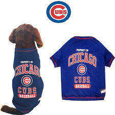 MLB Pet Fan Gear CHICAGO CUBS Tee Shirts Tank T Shirt for Dog Dogs Puppy COTTON