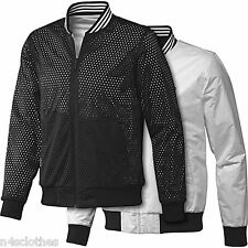 Adidas Mens Reversible Bomber Jacket Black White Size XS S M L XL