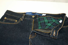 New Lanesboro Mens Green Flannel Lined 5 Pocket Blue Jean Denim YOU PICK SIZE
