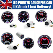"2"" 52MM LED CAR BOOST/VACUUM/WATER/OIL TEMP/PRESSURE/VOLT/FUEL/EGT/TACHO GAUGE"