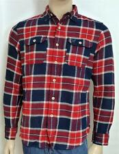 American Eagle Outfitters AEO Flannel Mens Red Blue Plaid Button Up Shirt NWT