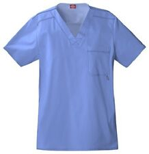 Dickies Scrubs Youtility Men's Scrub Top 81722 Ceil Blue Dickies GenFlex