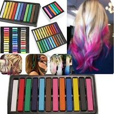 6 12 24 36 Colors Non-toxic Temporary DIY Hair Chalk Dye Soft Pastels Salon Kit