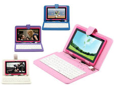 "iRulu 7"" Capacitive Tablet PC Android 4.2 8GB Dual Cameras WIFI Pink w/ Keyboard"