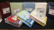 *(2 SETS) Waterbed Sheet set - ATTACHED Solid/Prints - King/ Queen + FREE Poles*