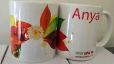 PERSONALISED ANY NAME FLOWER MUG PRESENT GIFT TEXT COFFEE TEA BIRTHDAY OCCASION