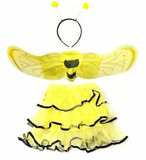 Cute Bee Halloween Costume Set - Wings, Tutu, Antennae - Small Size Kit