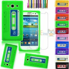 Silicone Cassette Tape Style Case For Samsung Galaxy S3 I9300+ GIFTS