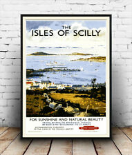 Isles of Scilly : Old Travel Poster reproduction