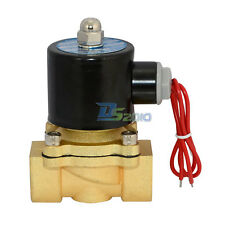 "3/4"" BSP 2way Solenoid Valve DC/AC Direct Water Air Oil Gas NC Brass Electric"