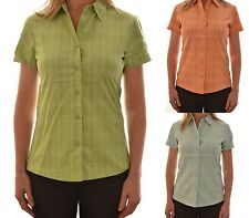 REGATTA LADIES TATYANA SHORT SLEEVE CASUAL CHECK SHIRT COLLARED WS147 C6