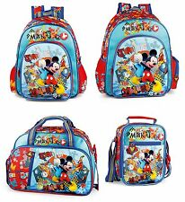 Mickey Mouse Blue Backpack Official Rucksack Disney Swim Bag Lunch Bag School