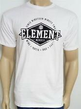 Element Wind Water Fire Earth Tee Mens White 100% Cotton T-Shirt New NWT