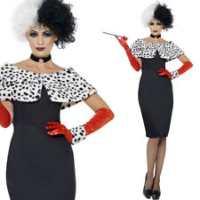 Womens Evil Madame Villain Fancy Dress Costume Famous Film Character Outfit