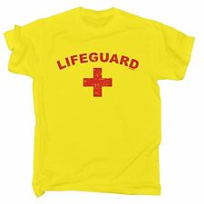 LIFEGUARD (DISTRESSED) T SHIRT ★ beach fancy dress baywatch stag hen party