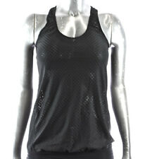 NEW H&M SPORT GYM Woman Black Sleeveless athletic Active Mesh TANK TOP *XS-XL