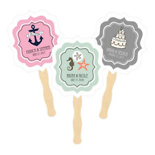Personalized Paddle Hand Fans Themed 50+ Designs! Birthday Wedding Shower Favors