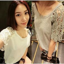 Women Crochet Lace Slimming Tunic Wear to Work OL Business Party Bodycon Dress
