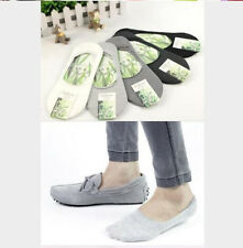 Men Boy's Invisible Bamboo Fiber Cool Loafer Boat Liner Low Cut No Show Socks