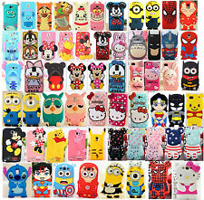3D Cartoon Silicone Cover Case For Samsung Galaxy Note2/3/4 S3/S4 i9500/S5 i9600