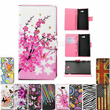 Flip Holster Card Pouch Wallet Leather Phone Case Accessories For Sony Xperia M2