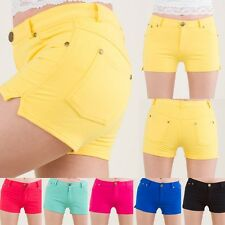 Yoain Cotton Colorful Shorts Pants Stretch Jeggings Tights skinny Sexy S/M L/XL