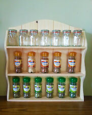 WOODEN SPICE RACK FRENCH COUNTRY SHABBY CHIC SHELVES 3 TIERS, MANY WIDTHS - SALE