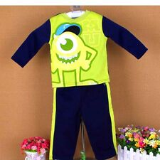 Sale 2pcs boys girl cotton sets outfits T shirt+pants  baby clothes for 0-4Y S92