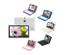 "iRULU 7"" 8GB Android 4.2 Tablet PC Dual Core Dual Cameras WIFI White w/ Keyboard"