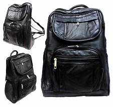 Mens Kids Ladies Leather College School Back Pack Ruck Sack Traveling Camera 50