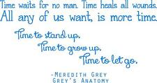 "Meredith Grey Quote - Grey's Anatomy Wall Decal - TV Show Sticker 32""x17"" [GA2]"