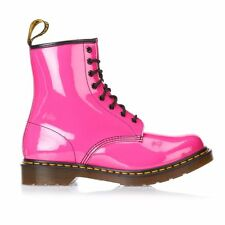 DR MARTENS WOMEN'S 1460 PATENT LEATHER 8-EYELET  PINK BOOT