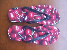 Nice Cherry Flip Flops Sandals Thong Slippers Flat New Free Shipping to USA Soft