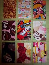 """Your choice: Sets of 9 Charm Squares 3"""" X 4.5"""" Make a Canning Jar Quilt or I Spy"""