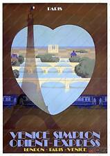 Venice simplon orient express : Vintage Advertising  Poster reproduction