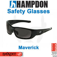 Safety Glasses - Maverick – Black or White with Smoke or Mirror Lens - 8105S