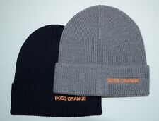Hugo Boss Orange Men's Fomero4 Beanie Hat Wool Blend New with Tag 2 Choices
